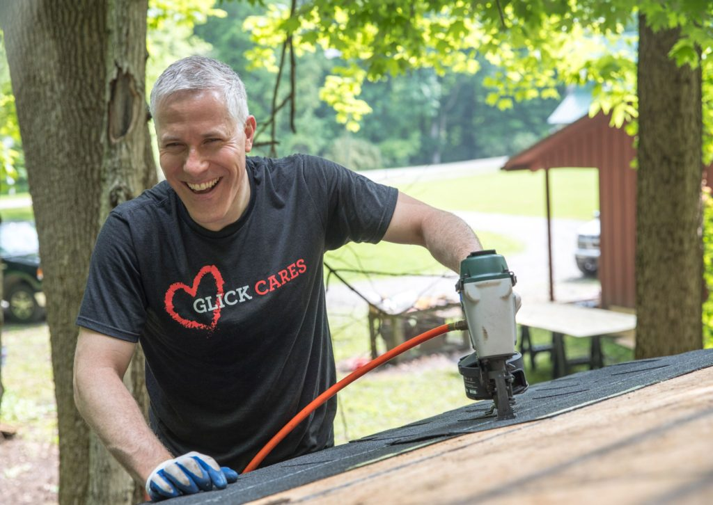 Glick Cares team volunteers at Camp Dellwood