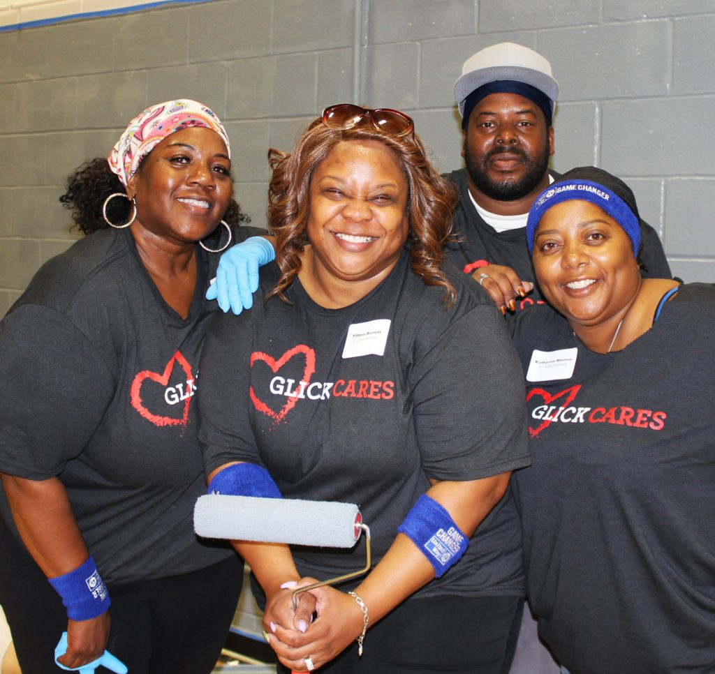 glick day of caring volunteers